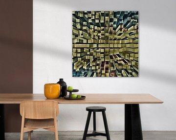 diepte blokken space modern werk abstract van Groothuizen Foto Art