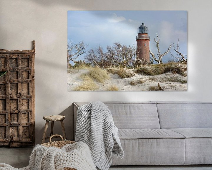 Beispiel: Hinter den Dünen - Leuchtturm Darßer Ort von Gisela Scheffbuch