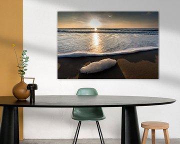 Zonsondergang bij het strand van Katwijk van Paul Algra