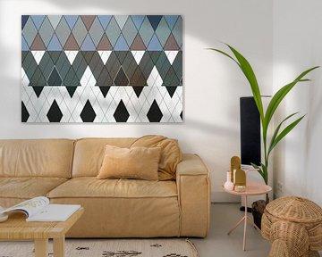 Diamanten, grafisches Muster von Rietje Bulthuis