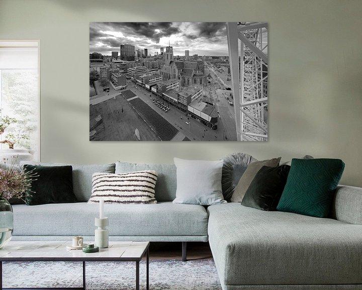Sfeerimpressie: Laurenskerk zwart / wit te Rotterdam van Anton de Zeeuw