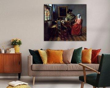 Herr und Dame beim Wein - Jan Vermeer