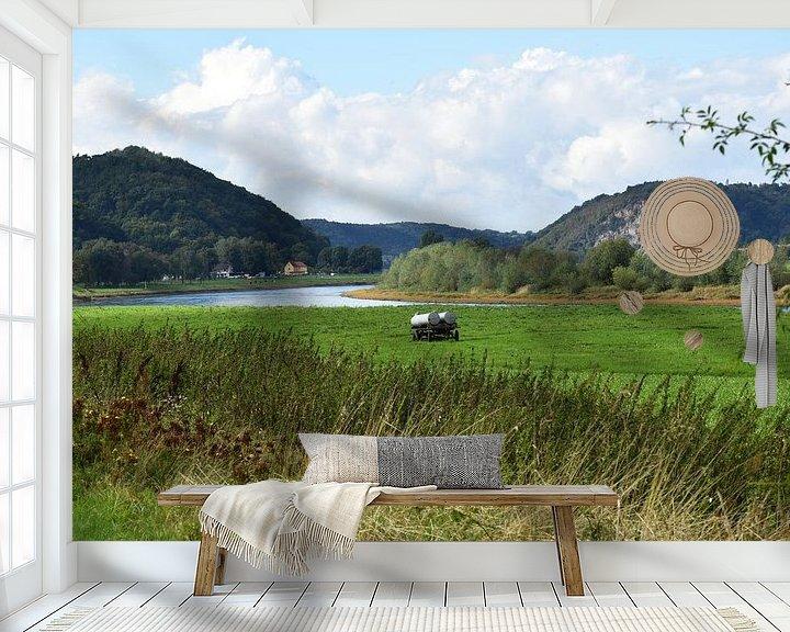 Sfeerimpressie behang: Elbe van Marcel Ethner