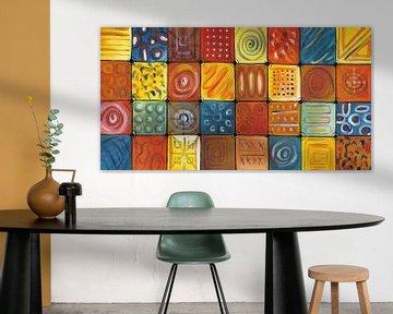 Abstract kleurrijk schilderij | Abstract 848 von Kunst Company