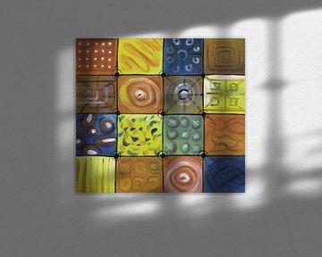 Abstract kleurrijk schilderij | Abstract 748 von Kunst Company