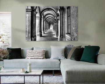 Fantasierijke poort in Haagse binnenhof sur Dexter Reijsmeijer