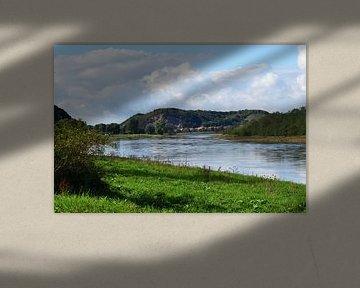Landschap Elbe van Marcel Ethner