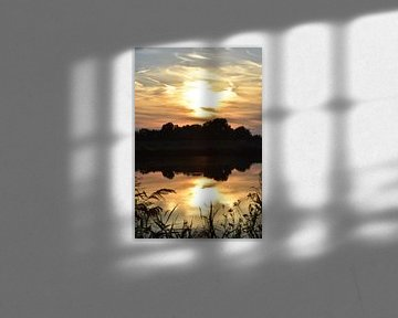 Sonnenuntergang am Fluss von Marcel Ethner