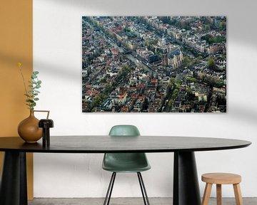 Westerkerk van Amsterdam vanuit de lucht van Melvin Erné
