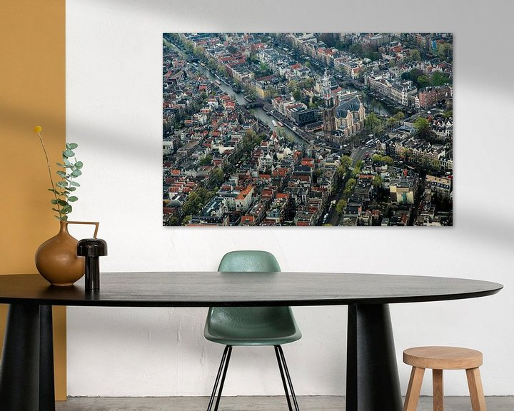 Sfeerimpressie: Westerkerk van Amsterdam vanuit de lucht van Melvin Erné