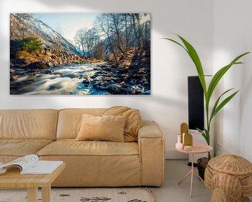 Snel stromende rivier Kaprun van Martijn van Dellen
