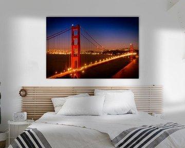 Golden Gate Bridge am Abend sur Melanie Viola