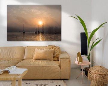 Sonnenaufgang im Stadthafen von Rostock von Rico Ködder