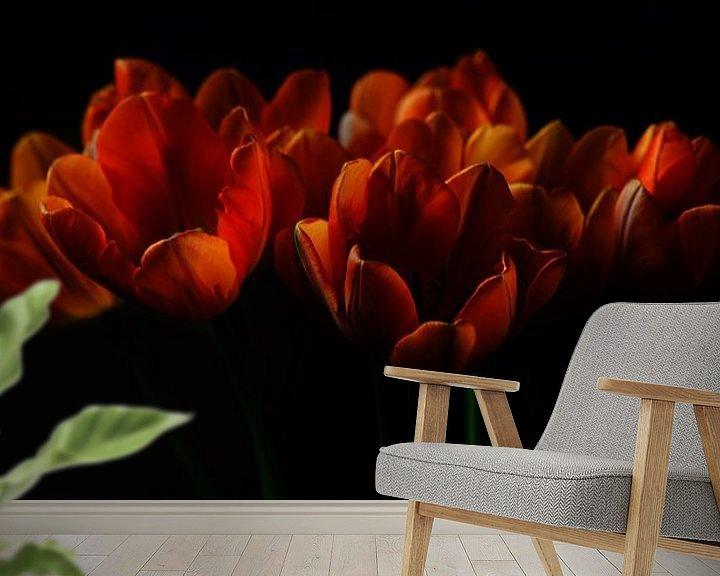 Sfeerimpressie behang: Tulpen II van Pieter Navis