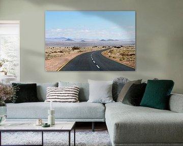 Endless road Namibië von Gijs de Kruijf