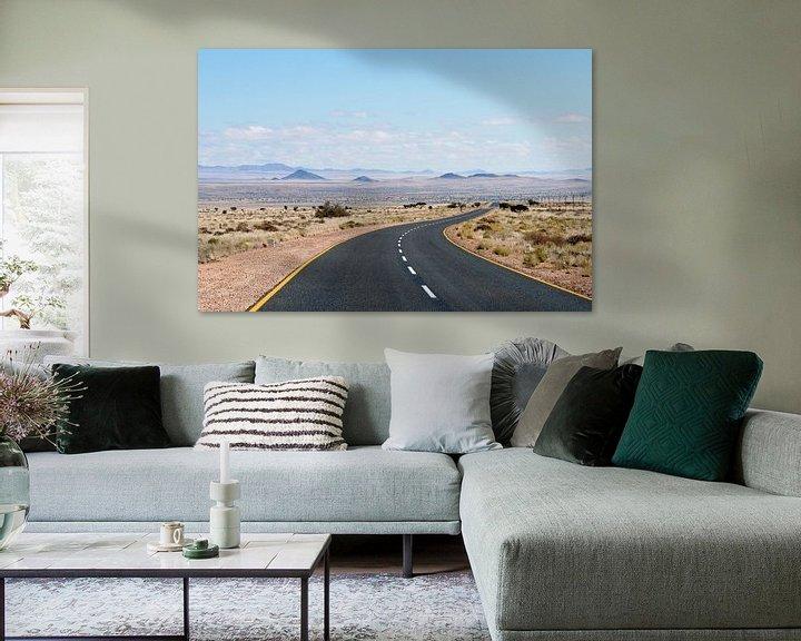 Sfeerimpressie: Endless road Namibië van Gijs de Kruijf