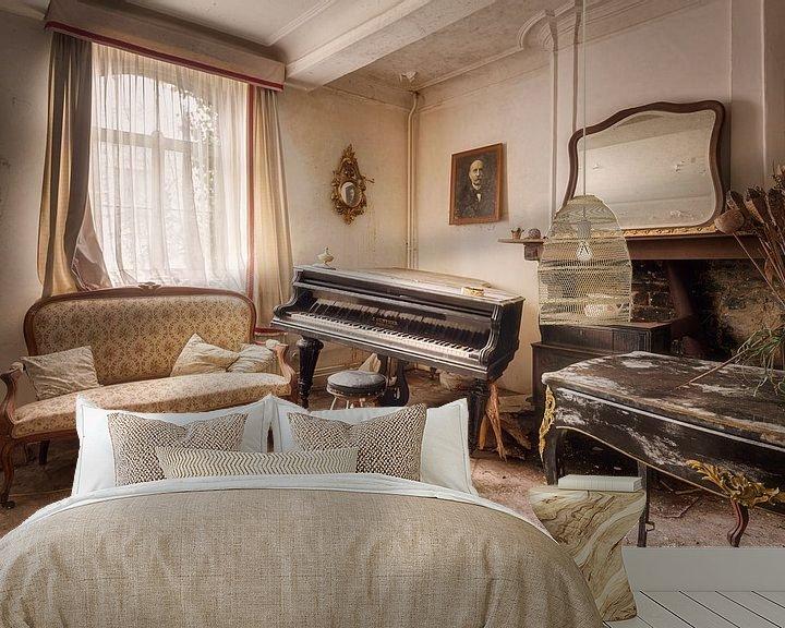 Beispiel fototapete: Klavier in Balance von Roman Robroek