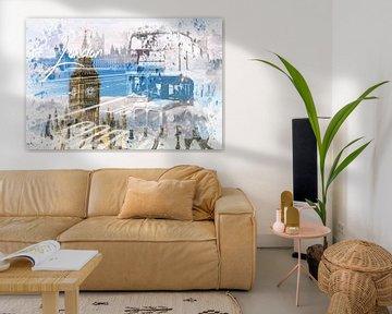 City Art WESTMINSTER Collage van Melanie Viola