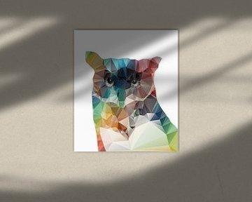 De kleurrijke uil von Didden Art