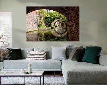 De Kromme Nieuwegracht in Utrecht in de lente (5) van De Utrechtse Grachten
