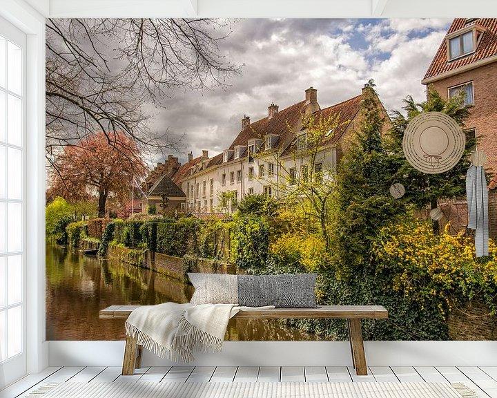 Beispiel fototapete: Amserfoort,  muurhuizen gezien vanaf de zuidsingel von Dick Kattestaart