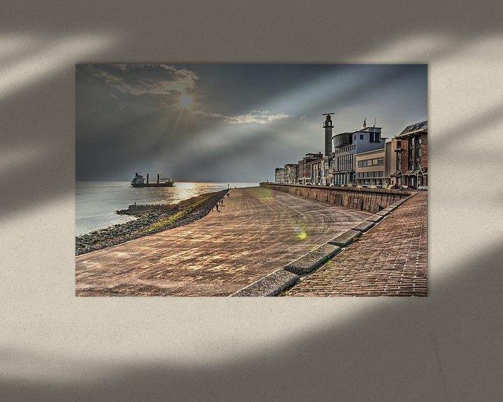 Sfeerimpressie: Zonsondergang in Vlissingen van Frans Blok