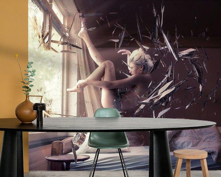 Sfeerimpressie behang: Falling Asleep van Stefan Witte