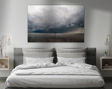 Regensturm über Ameland wad