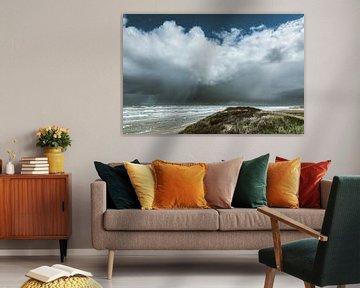 Zicht op Ameland vanaf Terschelling von Albert Wester Terschelling Photography