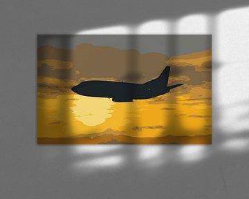 Boeing 732 Sonnenuntergang fliegen