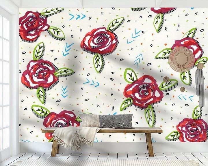 Sfeerimpressie behang: Al deze rozen zijn voor jou van ART Eva Maria