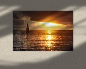 African sunrise sur Jolanda van Straaten