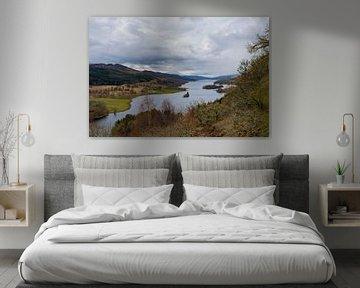 Schotland, Queens View bij Loch Tummel van Cilia Brandts