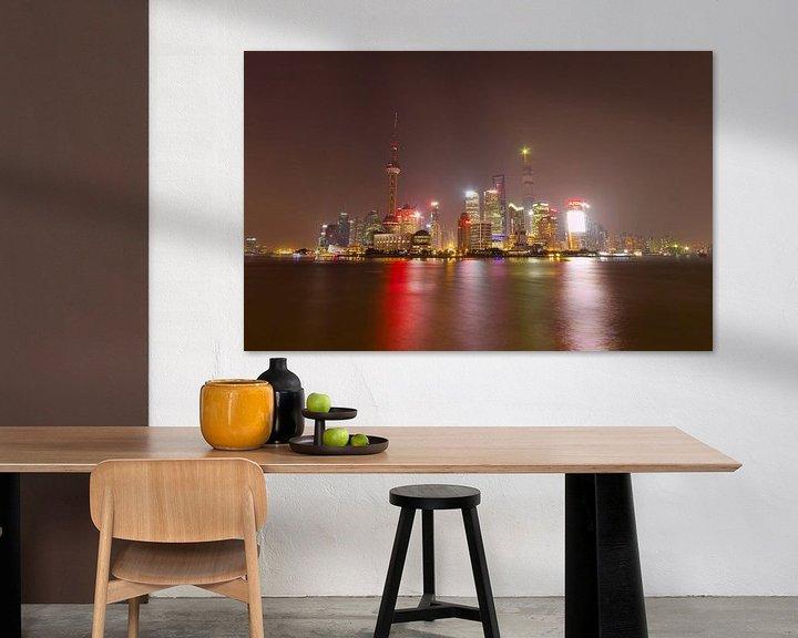 Sfeerimpressie: Shanghai skyline van Paul Dings