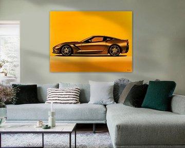 Chevrolet Corvette Stingray  Schilderij von Paul Meijering