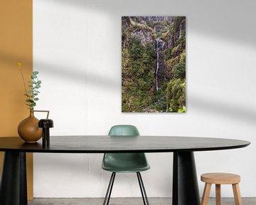 waterval op madeira eiland bij 25 fontes