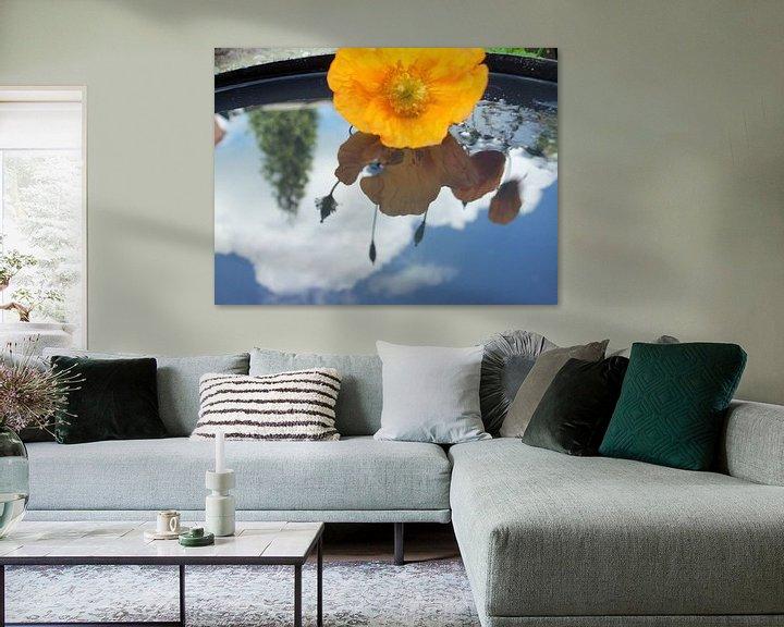 Beispiel: bloem weerspiegeld in water von Margriet's fotografie