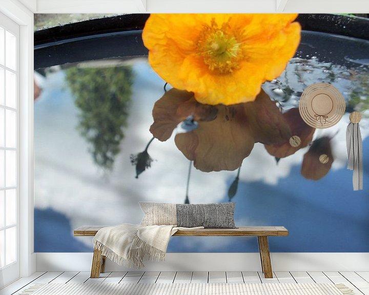 Beispiel fototapete: bloem weerspiegeld in water von Margriet's fotografie