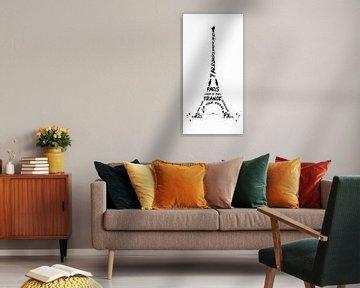 Digital-Art Eiffel Tower | panoramic van Melanie Viola