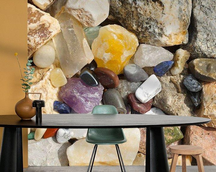 Sfeerimpressie behang: Schitterende stenen van Berthilde van der Leij