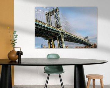 Manhattan bridge in New York in de ochtend van Diewerke Ponsen