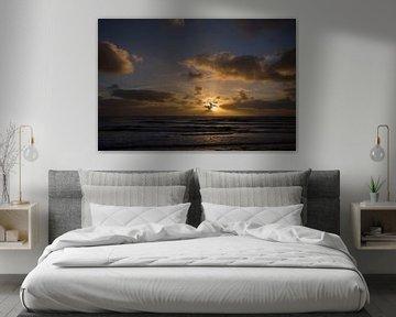 Zonsondergang boven zee van Barbara Brolsma