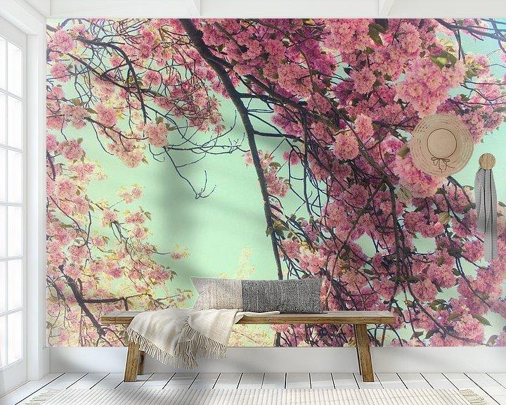 Sfeerimpressie behang: Lentebloesem van Susanne Viset