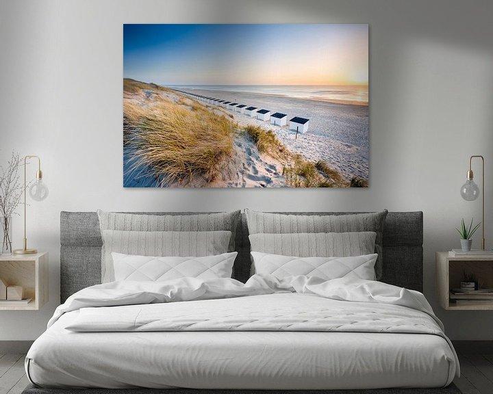 Sfeerimpressie: Texel, het strand bij Paal 17 van Ton Drijfhamer