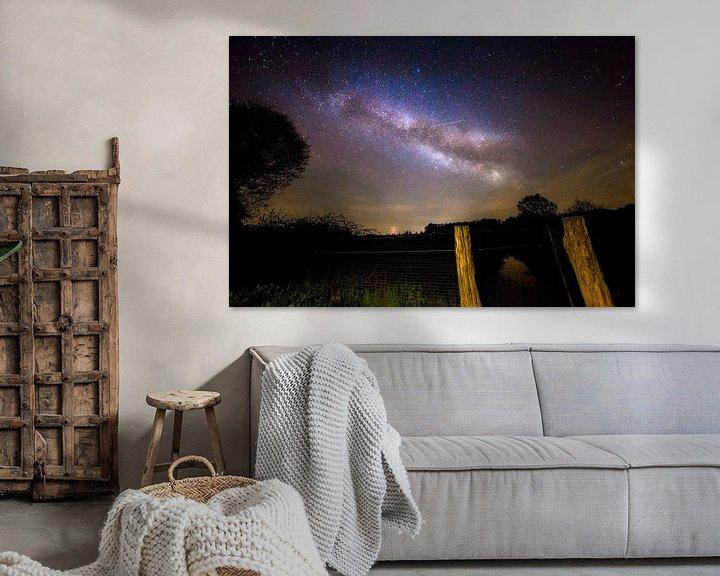 Sfeerimpressie: Melkweg in Nederland - Drents-Friese Wold National Park (drenthe Friesland) - Milky Way Nederland van Aaldrik Bakker