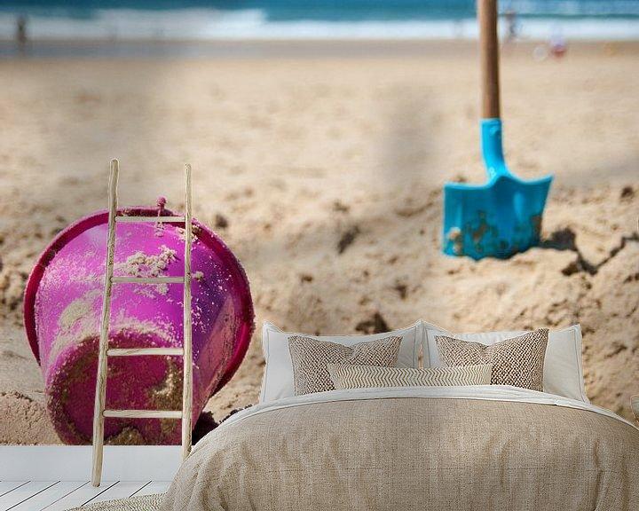 Sfeerimpressie behang: Zandgravers van Martin Noteboom