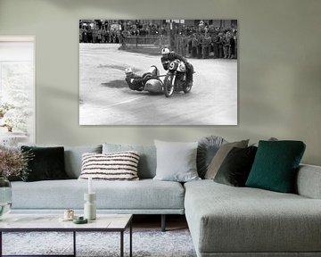 Norton Motorrad Racer von Timeview Vintage Images
