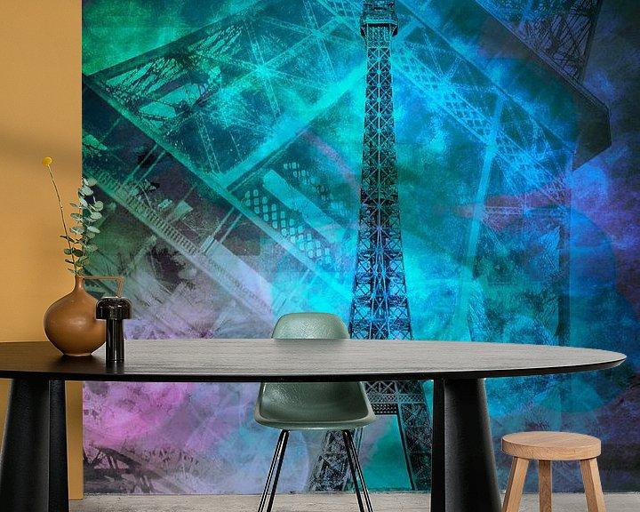 Beispiel fototapete: Pop Art Eiffelturm II  von Melanie Viola