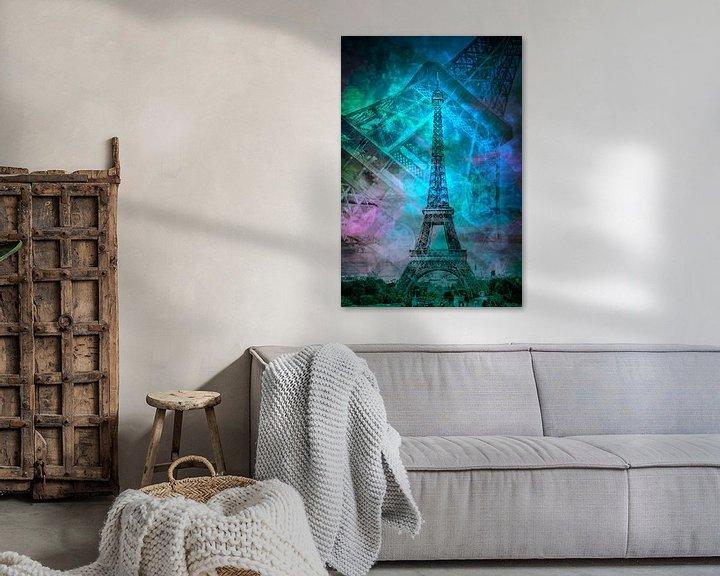 Beispiel: Pop Art Eiffelturm II  von Melanie Viola