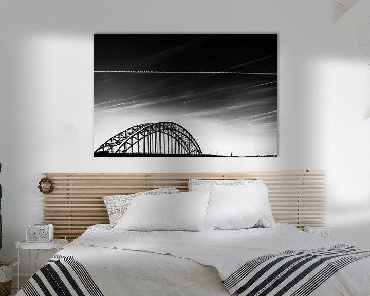 Sfeerimpressie: Oude Waalbrug in Nijmegen. van Maerten Prins